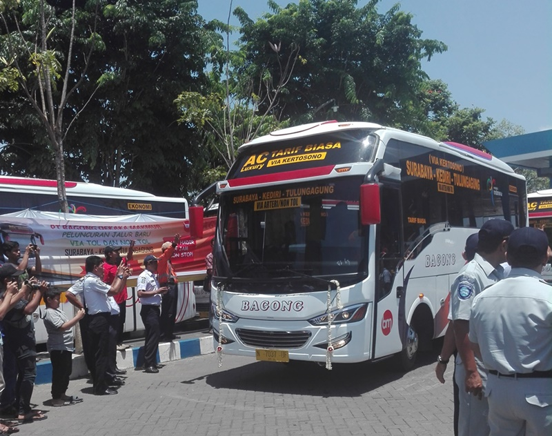 PELUNCURAN JALUR BARU BUS BAGONG