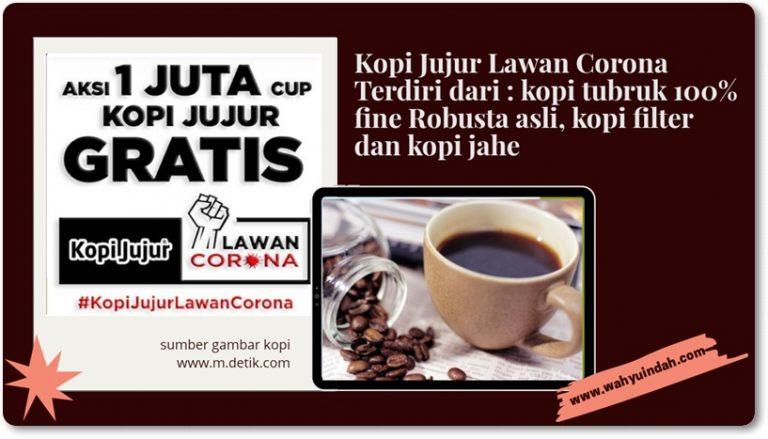 kopi jujur. kopi asli tanpa campuran essen