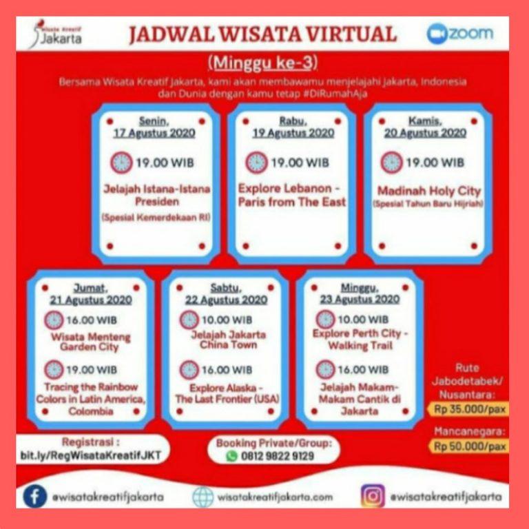jadwal tur virtual