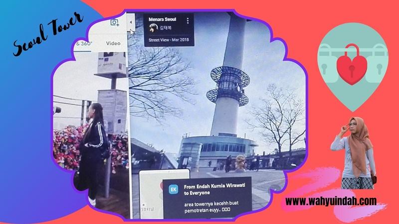 seoul tower yang terkenal dengan gembok cintanya