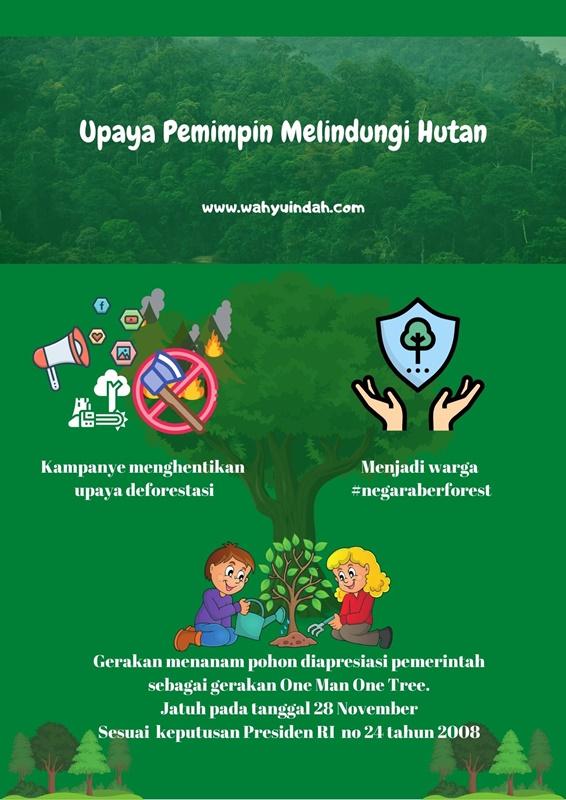jika saya jadi pemimpin, ini yang saya lakukan untuk menjaga hutan Indonesia