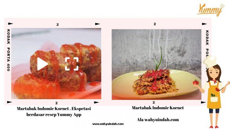 perbedaan martabak indomie kornet bikinan yummy app dan bikinan wahyuindah