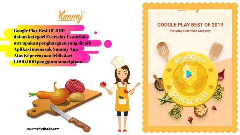 penghargaan yang diperoleh yummy app