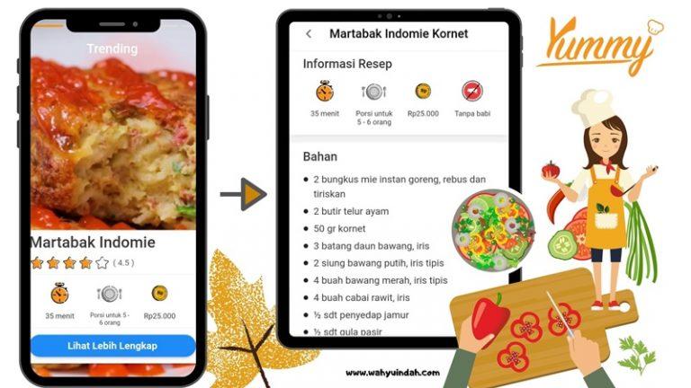resep masakan martabak indomie kornet dari yummy app