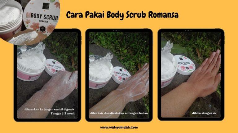 cara pakai body scrub scarlett yang romansa
