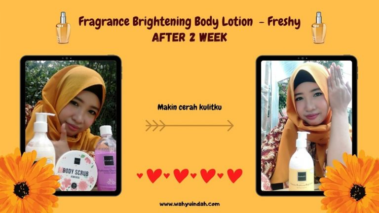 pemakaian body lotion setelah 2 minggu