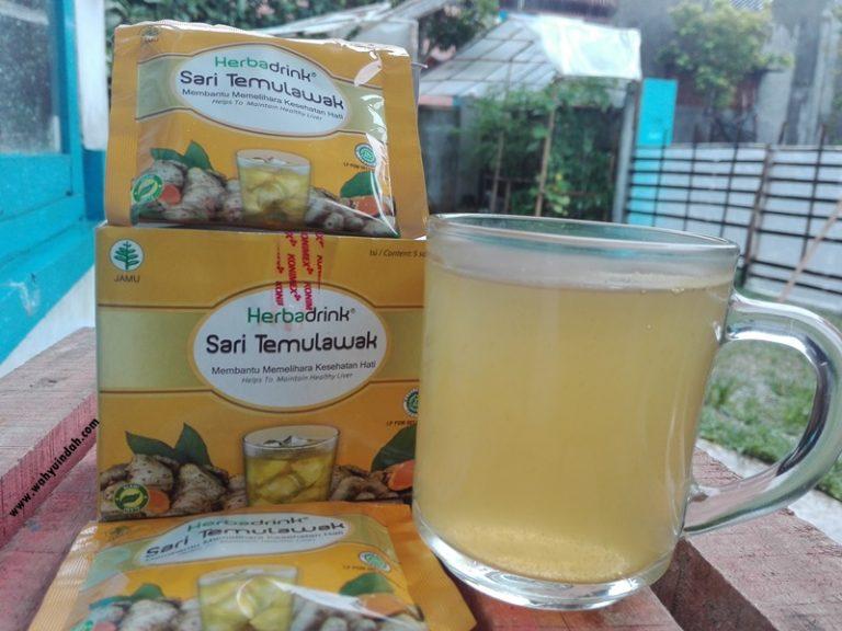 herbadrink sari temulawak yang enak dan segar