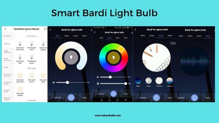 tampilan smart light bulb bardi di smart life