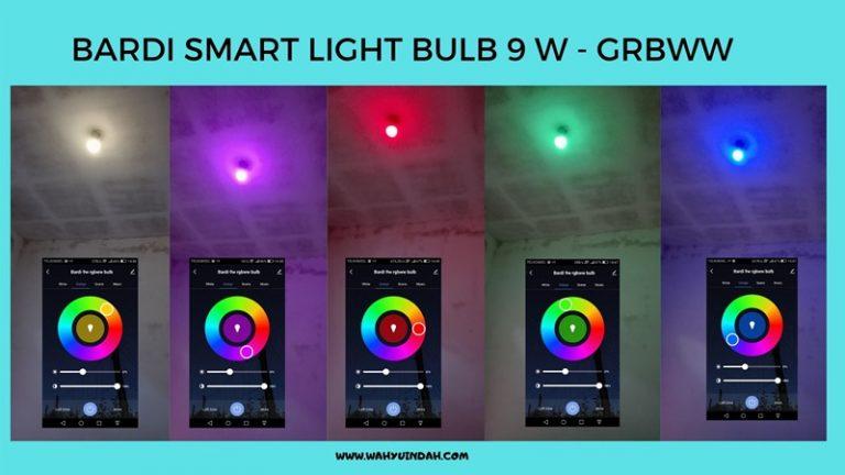 warna warni lamou smart light bulb 9w rgbww
