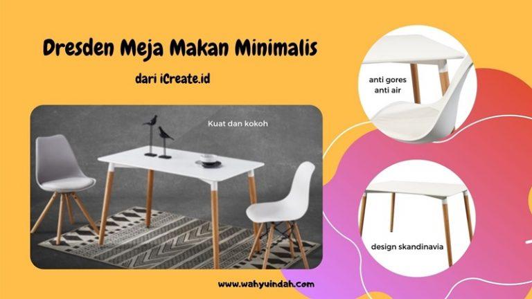 produk meja makan minimalis dari iCreate.id bernma dresden