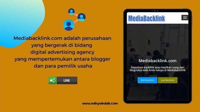 pengertian mediabacklink.com sebagai tempat bertemunya advertiser dengan blogger