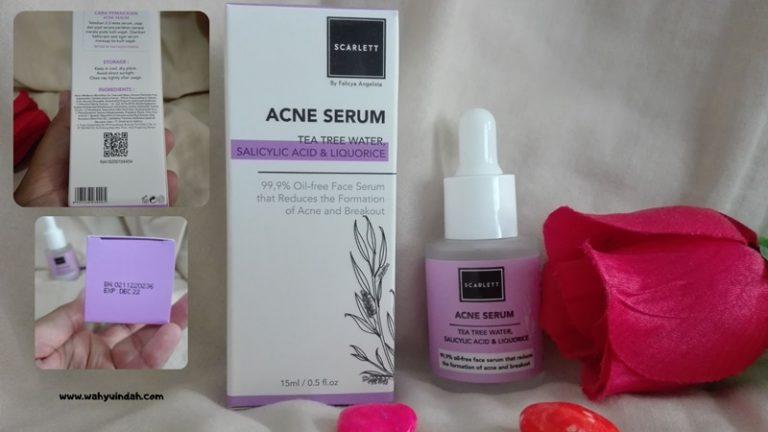 penampakan dari scarlett acne serum