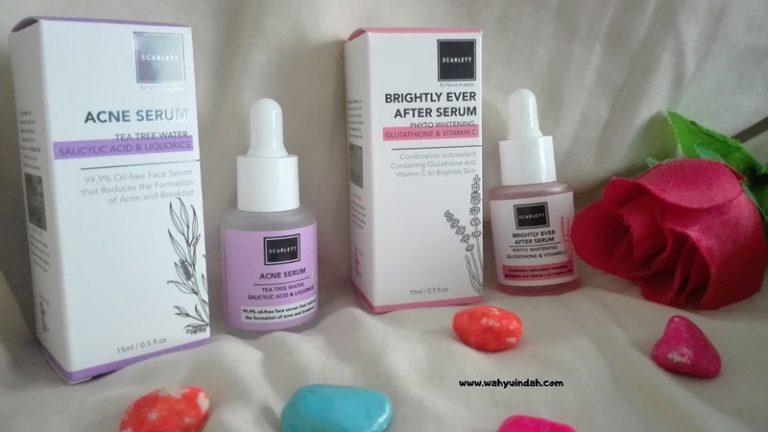 review jujur scarlett acne serum dan scarlett brightly ever after serum