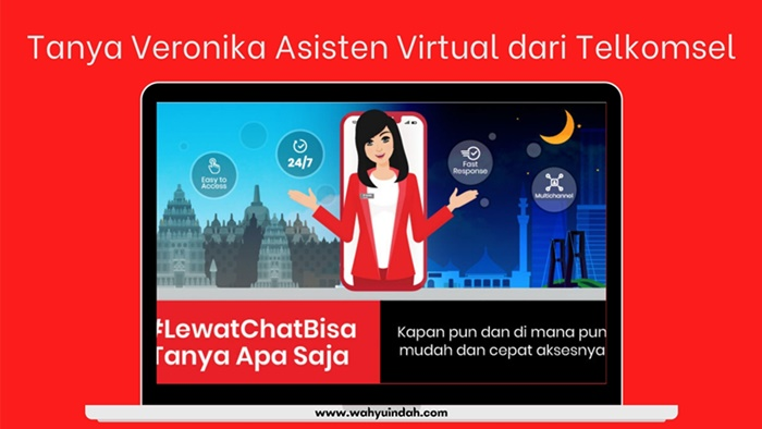 Tanya Veronika Asisten Virtual dari Telkomsel yang yahut banget