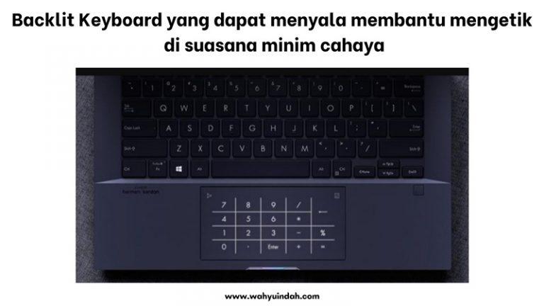 backlit keyboard yang bisa menyala di keadaan gelap pada asus expert book b9400