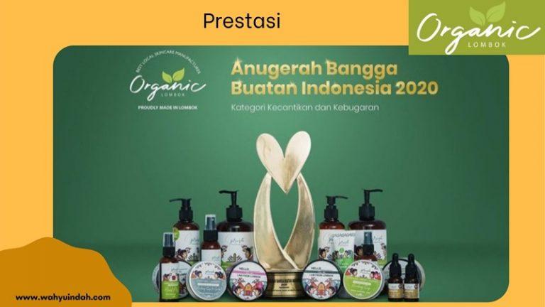 organic lombok juara 1 dalam anugerah bangga buatan Indonesia 2020