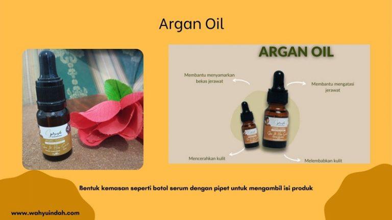 kemasan argan oil si pencerah kulit dari organic lombok