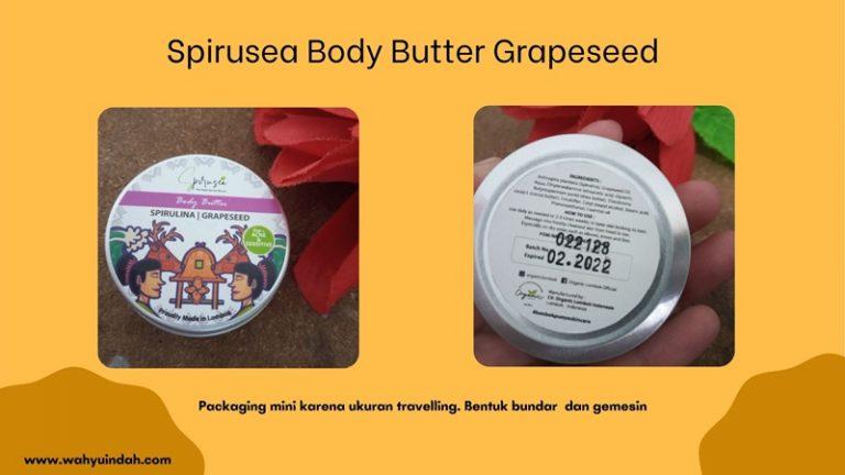 bentuk kemasan luar spirusea body butter grapeseed