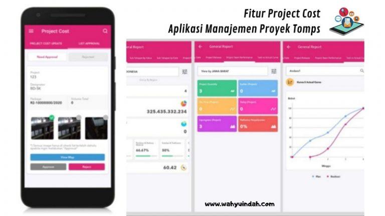 fitur project cost pada aplikasi manajemen proyek tomps