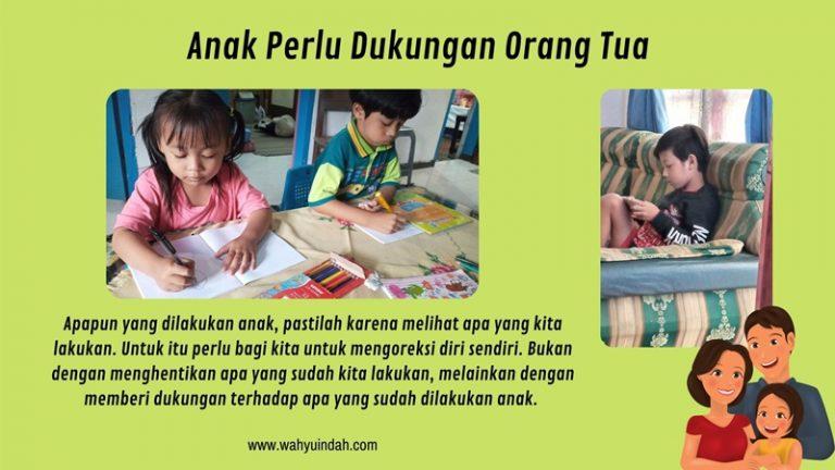 dukungan orang tua untuk anaknya