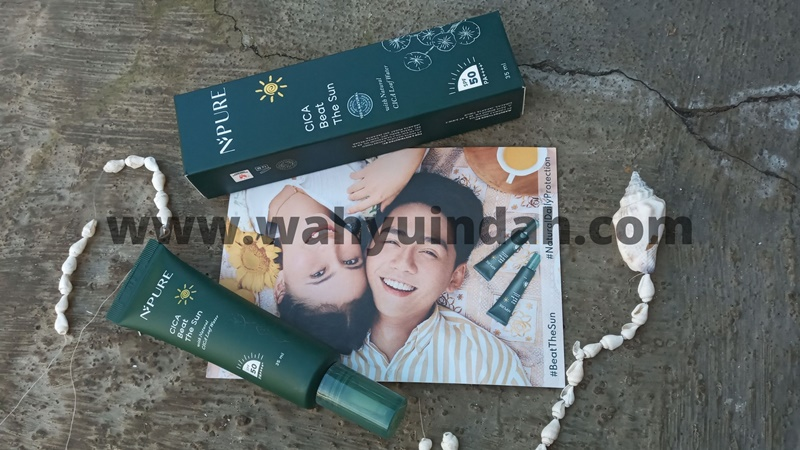 review sunscreen dari NPURE Cica Beat The Sun