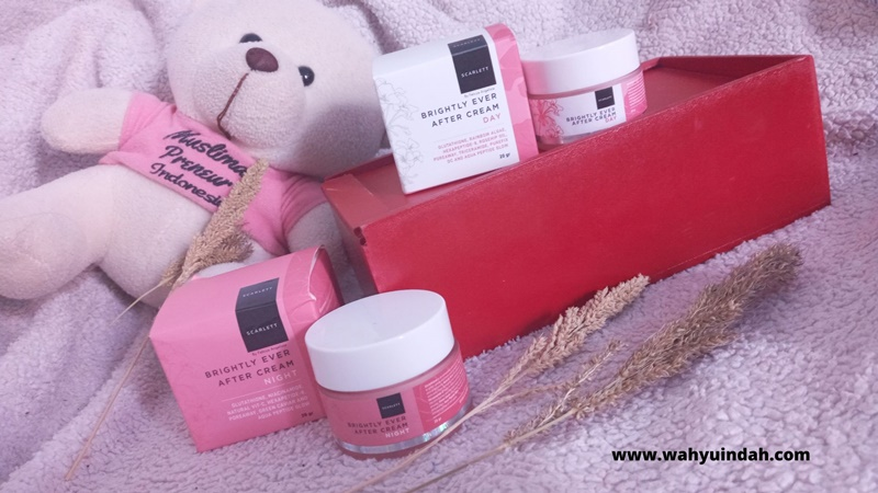 review scarlett whitening yang seri brightly ever after cream day and night