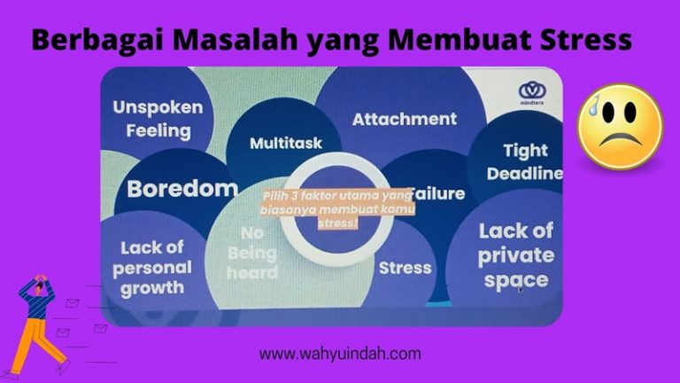 berbagai masalah yang memunculkan stress